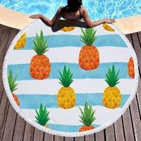 Towel Beach For Adult Yoga Mat Tassel Fruit Large Round Circle Tapestry Blanket Pineapple Printed