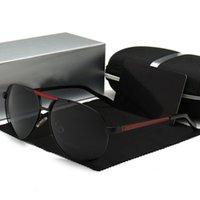 Пилотные старинные алюминиевые поляризованные солнцезащитные очки Classic TradeMark Policer S8480C мужское покрытие объектива приводного стекла для мужчин / женонауи3