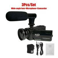 كاميرات الفيديو 1080P 16X تكبير كاميرا فيديو رقمية كاميرا فيديو DV مسجل خارجي ميكروفون J9Q2