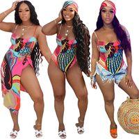 Traje de baño de las mujeres Bikinis de 2 piezas Set de ropa de verano Club Sexy Club Elegant Mansuits Bufanda Sweatsuit Revestimiento Cape Body Modysuits Camiseta sin mangas Trajes de jersey 01268