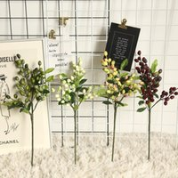 Decorative Flowers & Wreaths 1PC Simulation Berry Olive Fake Plants Home Room Decoration Wall Botany Flower Plant Artificial Office Decor