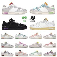 2021 Nieuwe aankomst dunk low the 1-50 loopschoenen zwart wit skate sneakers sb dunks lot 1 van 50 off heren vrouwen outdoor sporttrainers joggen lopen 36-45