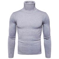 Slim Fit Pullover Turtleneck Pull Hommes Mode Solide Tricoté Homme Sweaters Casual Homme Double Collier Favocent hiver chaud chaud