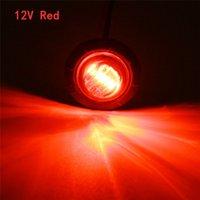4 unids 12V rojo 3/4 pulgadas LED redondo delantero de la parte posterior del lado posterior Luces de las bombillas del automóvil Luz de liquidación impermeable para el remolque universal del camión