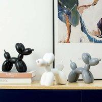 Design artesanato e Artes Cão Ballon Sculpture Table Decoração Acessórios Casa Decoração Animal Cabelo Moderno Estátua Quarto Decorações Arte 2021