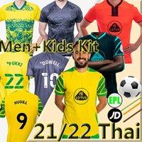 2021 Norwich 2022 Città Huggill Soccer Jerseys 21/22 Roberts Pukki Hernandez Buendia Stiepermann Camicie da calcio Giallo Skipp Cantwell Men + Kid Kit Unifroms