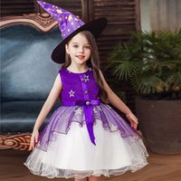 2022 Christmas Red A Line Flower Girls' Dresses Party Kids Prom Dress Halloween Girl's Princess Pageant Evening Gowns