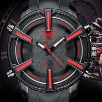 Wolf-Chumb Несколько часовых поясов Sport Watch Brand Auto Date Day Leed Alarm Silicone Band Analog Quartz Военные мужские Цифровые часы Наручные часы