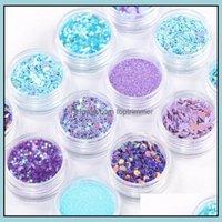 Salon Health & Beautymermaid Half Pearls Star Laser Sequins Glitters Decorations Shadow Eye Makeup Diy Design Nail Art Supply 12Pcs Lot Epac