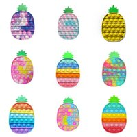 Decompression Fidget Toys Educational Push pop Bubble Press plate Sensory Anxiety Stress Reliever Kids Mental Arithmetic Intelligence colorful Pineapple toy