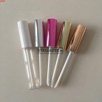 100 stücke 10 ml leer lip gloss rohr klare lippenstift balm flasche container mit lipbrush für reise f3761high qit