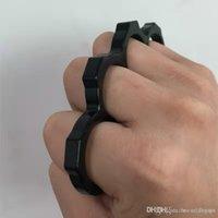 Steel 2pcs Bronze Knuckle Dusters, autodefesa pessoal de segurança pessoal e homens de defesa dos homens livres