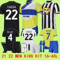 المشجعين لاعب الإصدار 21 22 Ronaldo Soccer Jerseys 2021 2022 Dybala Morata Chiesa McKennie Football Kit قميص Juve Men + Kids