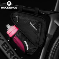 ROCKBROS Triangle Water Bottle Bag Bicycle Top Tube Bags MTB Road Bike Side Opening Pouch Large Capacity