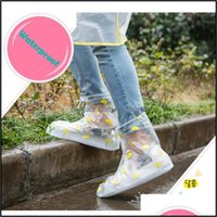 Raincoats Household Sundries Home & Gardenreused Waterproof Pvc Rainshoes Outdoor Female Shoe Er 4 Colors Dustproof Overshoes For Rain Walki