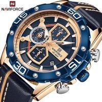 Дизайнер Часы Марка Часы Роскошные Часы Синие Военные Натуральные Кожа Запястье Человек Часы Модный Хронограф Запястье