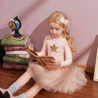 Girls Autunno Dress Style Style Brand Kids ES per manica lunga Casual Wear School Party Tutu 210429