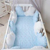 الشمال ins الوليد الطفل المهد مصدات 10 قطع غائمة وسادة لسرير الجانب المخفض الدرابزين ورقة السرير مجموعة الفراش غرفة نوم التبعي Q0828