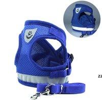 Modelo de cintura Cão Arnês Leashhes Set respirável Malha Strap Colete Collar Chag Pet Cães Suprimentos HWA6246