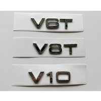 Chrome Silver Letters V6 T V 8T V 10 W 12 Fender Badges Emblems Emblem for Audi A4 A4 A6 A7 A8 S3 S4 R8 RSQ5 Q5 V6T V8T V10 W12