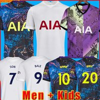 21 22 Dele Son Bale Kane 축구 유니폼 Hojbjerg Bergwijn Lo Celso 2021 2022 Lucas 축구 셔츠 유니폼 남성 + 키트 키트