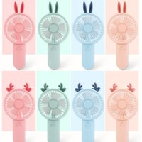 Summer Portable Mini Fan Adjustable Electric Fans USB Gadgets Rechargeable Cartoon Desk Handheld Air Cooler for Outside Travel Home Office