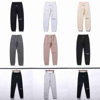 Yansıtıcı Sonbahar Kış Pantolon ABD Tanrı Korkusu Essentials Silikon Harfler Baskı Pantolon Rahat Sis Sweatpants Erkek Kadın FG Jogger Pantolon 3 M R0JE #