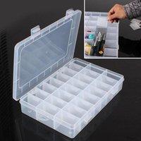 Opbergdozen Bakken 15 24 Slots Verstelbare Compartiment Box Praktische Plastic Case Voor Bead Rings Sieraden Display Tool