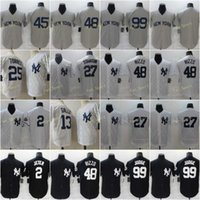 Mens 99 Aaron Judge Baseball Jerseys 2 Jeter 13 Gallo Gleyber 25 Torres Giancarlo 27 Stanton Gerrit 45 Cole Anthony 48 Rizzo Stitched Flexbase Cool Base