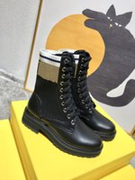 2021 Designer di alta qualità di lusso Designer Designer Rois Boots Ankle Nylon Combat e Martin Boot Designer Inverno Bouch Attaccato con Box Dimensione 35-42