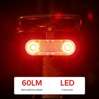 Bike Lights Professional Multi-function 1 Set Of Plastic Bicycle Tail Light USB Charging Five-mode Waterproof Riding