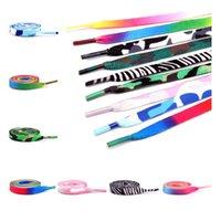 Colorful Printed Flat Polyester Shoelaces Dress Canvas Shoes Lace Sneaker Boots Shoe Laces Unisex Strings Shoelace 100cm