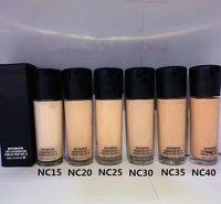 Alta qualità Brand Liquid Foundation 6 Colors SPF15 NC15 NC20 NC25 NC30 NC35 NC40 35ml Concealers Brewen