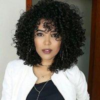 Top Quanlity Black Short Bob Femmes Perruques Synthétique Perruque Synthétique avec franges Long Brown Brown Omber Cheveux pour les poils naturels résistants à la chaleur J27