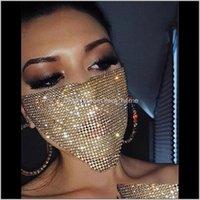 Trendy Bling Rhinestone Maske Jewlery Kadınlar için Yüz Vücut Takı Gece Kulübü Dekoratif Mücevherat Parti Maskeleri KKA7883 PY1MU QKULB