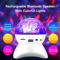 Wireless bluetooth Speaker Stage Light Gift RGB LED Crystal Ball Effect Lights DJ Club Disco Party Lighting Rechargeable USB TF FM