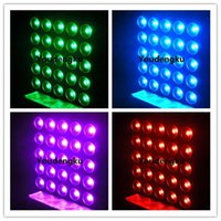 Effekte 4 Stück DMX Matrix 25x10W LED-Publikum-Blinder-Licht RGBW IN1-Strahlstufe