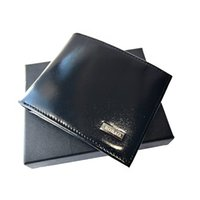 Тонкие кошельки для мужчин Натуральная кожа черного цвета передний карманный карманный модный кошелек наличными карманами ID Держатель мода человека кредитной карты