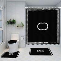 Großhandel Klassisches Design Duschvorhänge Wasserdichtes Badezimmer Liefert Multifunktionale Trennwand Vorhang Bad Türmatte