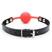 QualitySoft Silicone Ball GAG FIJACIÓN ORAL BDSM BANDAGE BOJA BOX Relleno PU cinta de cuero juguetes sexuales para parejas Juegos para adultos Erótico
