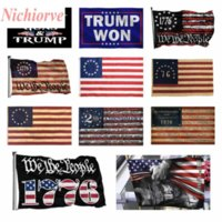DHL American Flag-wiara ponad strach Bóg Jezus 3x5ft Flagi 100D Poliester Banery Kryty Outdoor Vivid Color Wysokiej jakości z dwoma mosiądzowymi przelotkami
