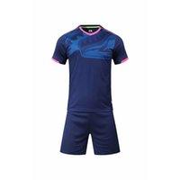 2019 2020 nuevos jerseys de fútbol hombres deportes corriendo ciclismo kits de fútbol personalizado Logotipo Número Número Azul Uniformes de fútbol Trajes