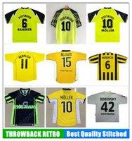 Retro Borussia Futbol Forması Lewandowski Reus Metzelder Dede Moller Amoroso Rosicky Bobic Klasik Yetişkin Futbol Gömlek
