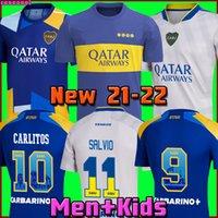 Boca Juniors 21 22 كرة القدم جيرسي 2021 2022 كارليتوس مارادونا تيفيز دي روسي مورا رينوسو ثالث المنزل 3rd 4th تايلاند لكرة القدم قميص الرجال والأطفال مجموعات موحدة
