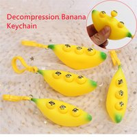 Decompression artifact toy squeeze eyes banana pinch music pressure relief vent bauble burst eye bananas keychain pendant toys
