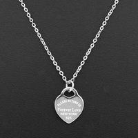 Pendant Necklaces Fashion Luxury Love Necklace Women Paragraph Clavicle Gold Peach Heart Fine Jewelry