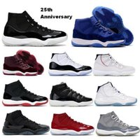 Jumpman Baloncesto Zapatillas 11 11s 25 aniversario Concord Velvet Heiress Legend Gamma Blue Space Jam Cred 2021 Hombres Mujeres Cesta Homme Trainers Sneakers