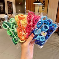 50 Pieces bag Daisy Bag Gradient Towel Hair Circle Leather Band Tie Head Horsetail Head Rope Girl Color Hair Rope