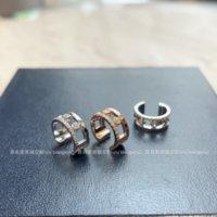 ضوء تصميم ميسي فاخر ميسي خطوة سلسلة فوضى بطاقة ثلاثة الماس تأتي وتذهب 925 الفضة 18 كيلو الأذن العظام كليب كليب