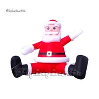 Customized Christmas Decorations Advertising Balloon Red Inflatable Santa Claus Welcoming Outdoors For Xmas And New Year Event